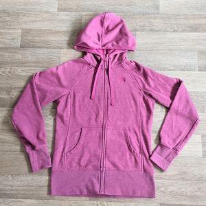 The North Face Pink Zip-up Hoodie Sweatshirt